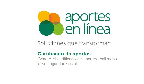 certificado de pago aportes en linea