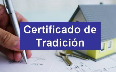 certificado de tradición y libertad