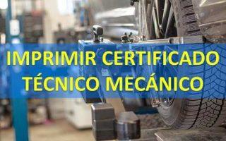 imprimir certificado de tecnico mecanico