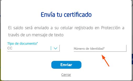 certificado de cesantías en protección