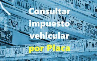 cómo consultar impuesto vehicular por placa