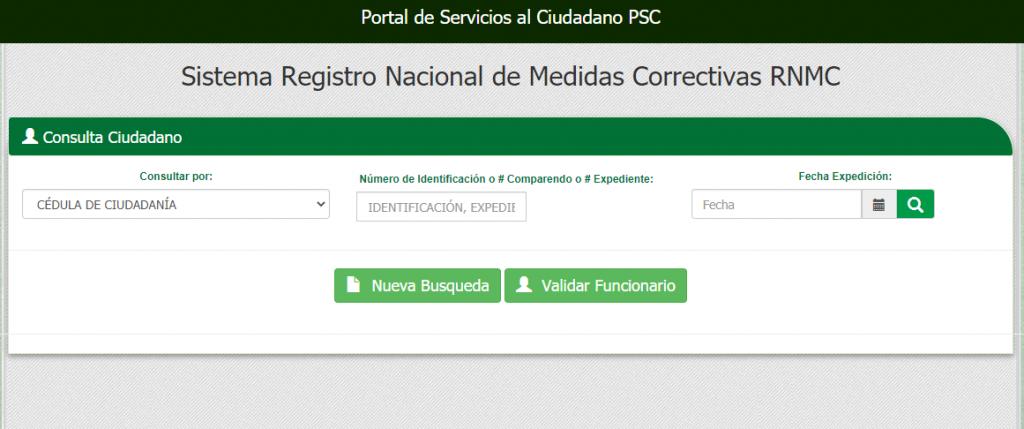 como descargar certificado de medidas correctivas - sistema registro nacional de medidas correctivas RNMC