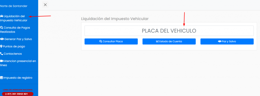 consultar impuesto vehículo norte de santander cucuta