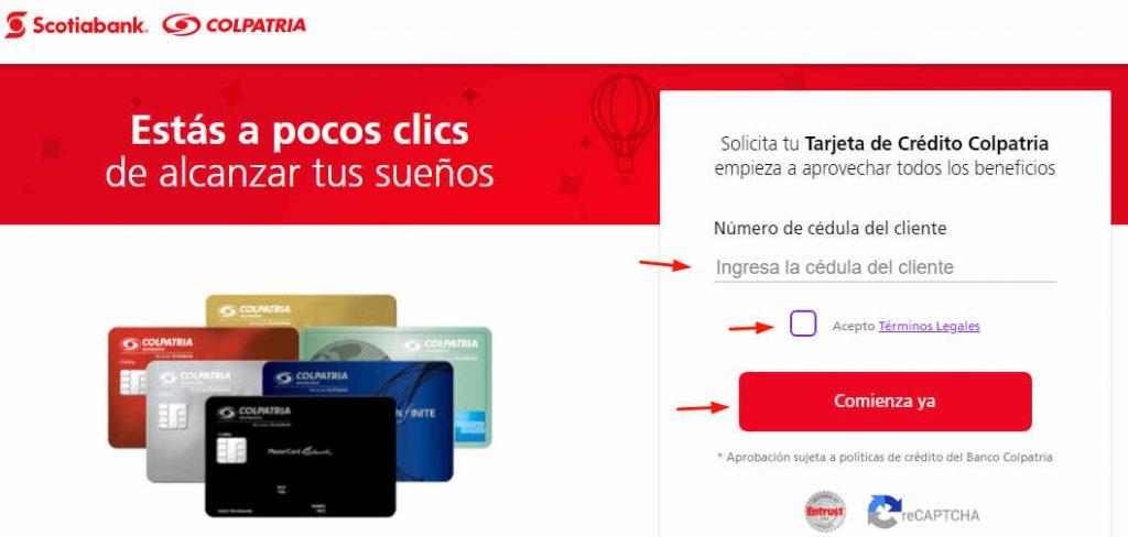requisitos para solicitar una tarjeta de credito